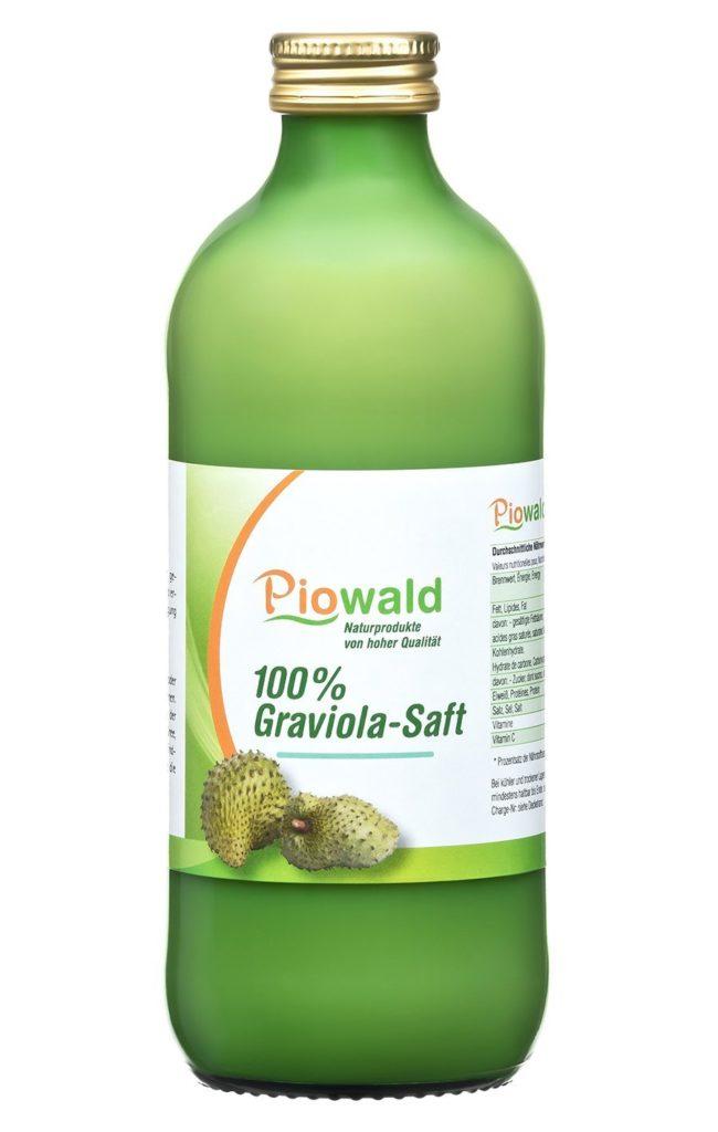 Graviola Saft in einer Flasche von Piowald